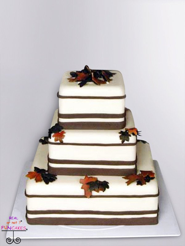 Autumn Leaves 3 tier cake