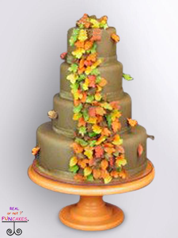 Classic Martha Autumn Orange Cake Stand