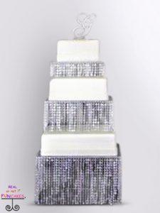 Kara Square Crystal Cake Stand