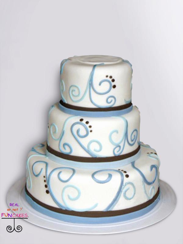 Modern Blue Swirls