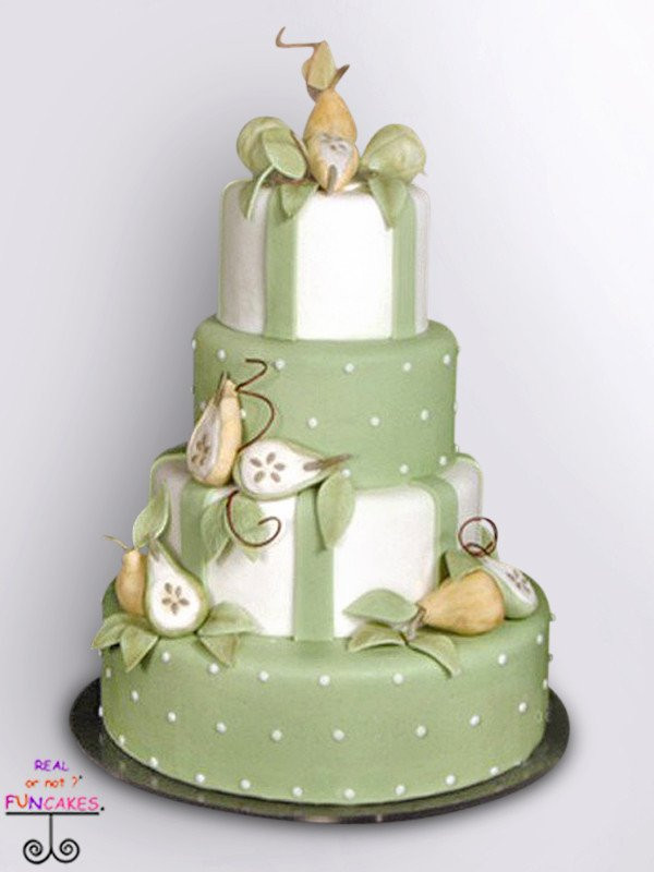 Perfect Pear 4 tier cake