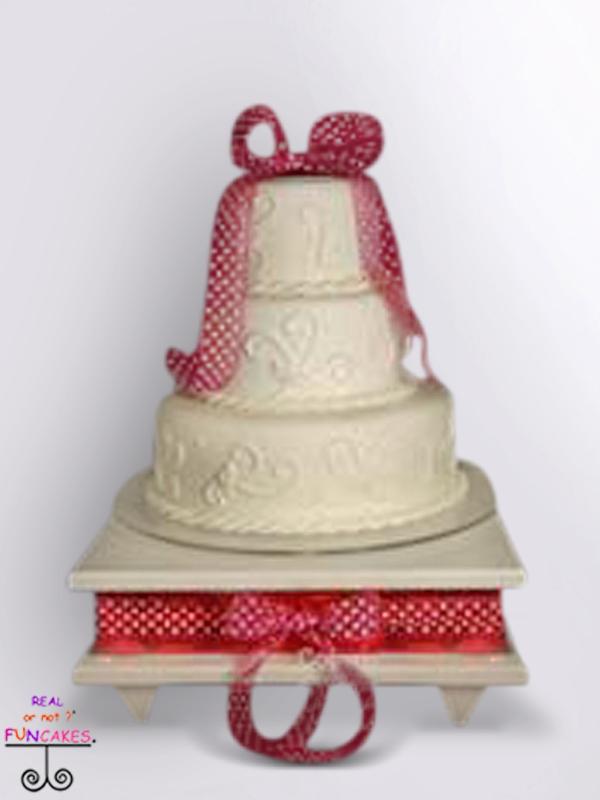 Pia Square White Cake Stand