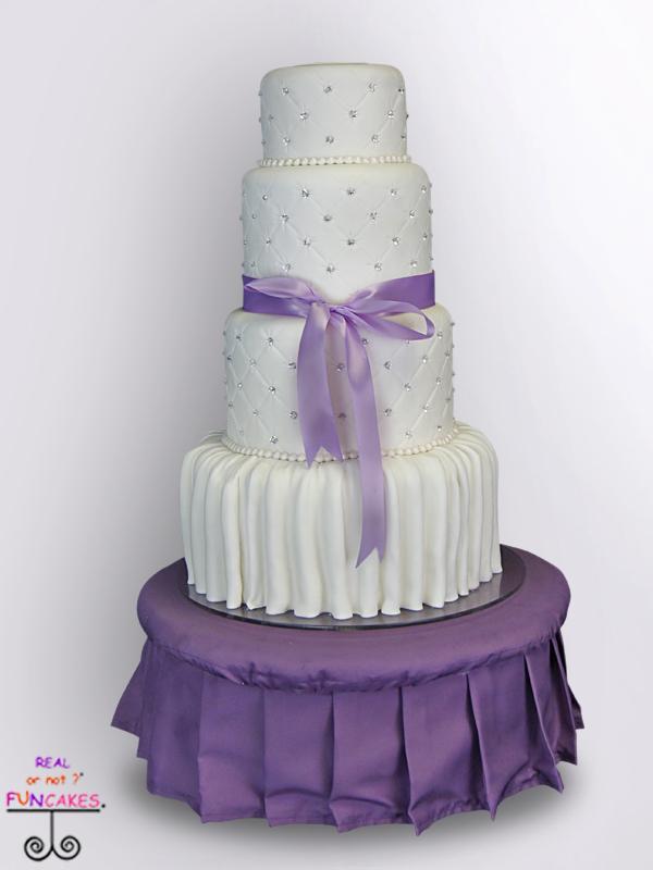 Purple Tuffet Cake Stand