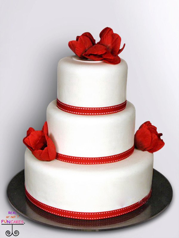 Red Ribbon 3 tier cake