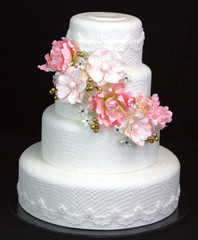 Summer Bouquet 4 tier cake