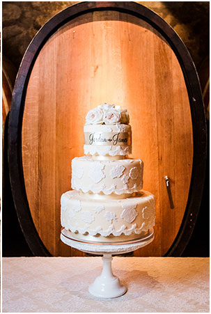 Shannon Stellmacher Photo Cake in front of a barrel