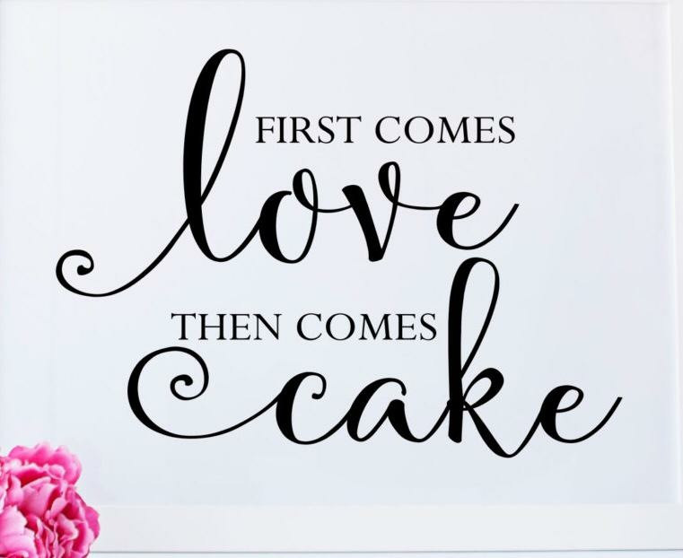 first comes love graphic
